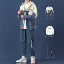 Jacket Damoson Youth fashion M L XL 2XL 3XL routine easy Other leisure autumn Polyester 100% Long sleeves Wear out Hood tide teenagers routine Zipper placket Cloth hem No iron treatment Loose cuff Solid color polyester fiber Autumn 2020 Color matching Side seam pocket Pure e-commerce (online only)