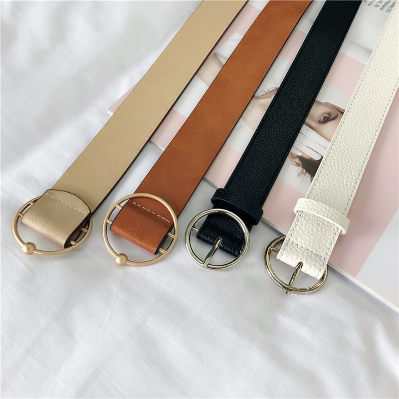 Belt / belt / chain Double skin leather Black perforated white perforated apricot nonporous Khaki nonporous currency belt cowboy Double loop juvenile Pin buckle Round buckle Other / other