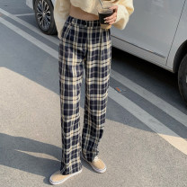 Casual pants Picture color S,M,L Spring 2021 trousers Straight pants High waist commute routine 18-24 years old 31% (inclusive) - 50% (inclusive) Other / other Korean version