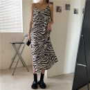 Dress Spring 2021 Picture color S,M,L longuette singleton  Sleeveless commute V-neck Loose waist Zebra pattern Socket other other camisole 18-24 years old Type A Other / other Korean version 31% (inclusive) - 50% (inclusive) other other