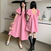 Dress Spring 2021 Average size Middle-skirt singleton  Long sleeves commute other High waist Solid color Socket other other Others 18-24 years old Type A Other / other Korean version 31% (inclusive) - 50% (inclusive)