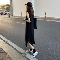 Dress Spring 2021 Dark grey, black Average size Mid length dress singleton  Sleeveless commute Loose waist Solid color Socket Others 18-24 years old Type H Other / other Korean version 31% (inclusive) - 50% (inclusive)