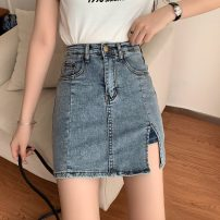 skirt Spring 2021 S. M, l, XL, one size fits all Picture color, white T Short skirt commute High waist A-line skirt Solid color Type A 18-24 years old 31% (inclusive) - 50% (inclusive) other Other / other other Korean version