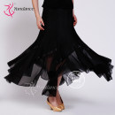 Modern dance bottom female Yundance Black, other sizes, please consult customer service for color Average size s ml skirt Waltz Tango Foxtrot S-353 other