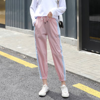 Women's large Summer 2021 Black, pink Large L, large XL, 2XL, 3XL, 4XL trousers singleton  commute easy Korean version Three dimensional cutting Beauty trends 25-29 years old pocket 81% (inclusive) - 90% (inclusive) Ninth pants
