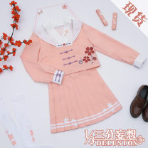 Cosplay women's wear suit goods in stock Over 14 years old Regular price (without deposit) game L,M,S Three point delusion Chinese Mainland Lovely wind, uniform Glory of Kings JK uniform No additional order after sale