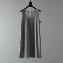 Dress Spring of 2019 Black, gray S,M,L,XL,2XL