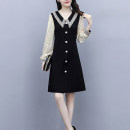 Women's large Spring 2021 Picture colors [baby collar dress], [skirt for fat people foreign style], [fat mm Xinji dress], [fat mm French Platycodon skirt] Dress singleton  commute easy moderate Socket Long sleeves Dot Korean version other Three dimensional cutting routine Z27501231 25-29 years old