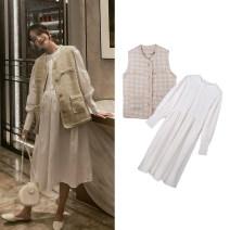 suit happymaman Vest, dress M,L,XL Korean version Short sleeve + skirt spring and autumn routine other