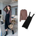 suit happymaman Strap, skirt, top M. L, XL, one size fits all Korean version Long sleeve + skirt spring and autumn routine other
