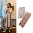 suit happymaman Cardigan, suspender skirt M. L, XL, one size fits all Korean version Long sleeve + skirt spring and autumn routine other