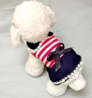 Pet clothing / raincoat Dog skirt XS (chest length 28 ~ 19 ~ 2.5 kg), s (chest length 34 ~ 24 ~ 3 ~ 4.5 kg), m (chest length 39 ~ 29 ~ 5 ~ 7 kg), l (chest length 45 ~ 35 ~ 7 ~ 9 kg), XL (chest length 49 ~ 39 ~ 10 ~ 14 kg) Other / other princess Red stripe princess skirt