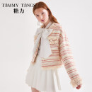 short coat Spring 2020 XS S M L Champagne Pink Long sleeves have cash less than that is registered in the accounts routine singleton  easy commute routine Crew neck Single breasted stripe 25-29 years old Tammy Tang / Tangli 51% (inclusive) - 70% (inclusive) polyester fiber