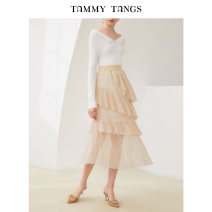 skirt Autumn of 2019 XS S M L Apricot Mid length dress commute High waist Cake skirt Type A 25-29 years old T19QB18759 51% (inclusive) - 70% (inclusive) Tammy Tang / Tangli nylon Lace Simplicity Polyamide (nylon) 60.2% viscose (viscose) 34.3% polyester 2.8% cotton 2.7% Pure e-commerce (online only)