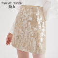 skirt Spring 2020 S M XS L khaki Short skirt commute High waist A-line skirt Type A 25-29 years old S20CB41002 51% (inclusive) - 70% (inclusive) Tammy Tang / Tangli cotton Sequins lady Cotton 66% polyester 34% Same model in shopping mall (sold online and offline)