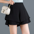 Casual pants Black, decor, black dot, red dot 27/M,28/L,29/XL,30/2XL,31/3XL,32/4XL Summer 2021 shorts Wide leg pants High waist Versatile Thin money 96% and above other zipper