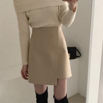 skirt Winter 2020 S,M,L Khaki, black Short skirt commute High waist Irregular Solid color Type A 25-29 years old X24081 81% (inclusive) - 90% (inclusive) Wool other Asymmetric, zipper Korean version 401g / m ^ 2 (inclusive) - 500g / m ^ 2 (inclusive)