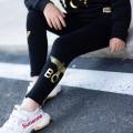 trousers Other / other female 110cm, 120cm, 130cm, 140cm, 150cm, 160cm, adult m (less than 100kg), adult L (less than 110kg), Adult XL (less than 120kg) Black gold for children, black gold for adults spring and autumn trousers Europe and America There are models in the real shooting Leggings cotton