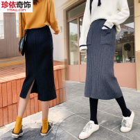 skirt Winter of 2019 F large Mid length dress Versatile High waist skirt Solid color Type H 18-24 years old J356-K3 51% (inclusive) - 70% (inclusive) Gemini Viscose Viscose fiber (viscose fiber) 50.6% polyester fiber 30.5% polyamide fiber (nylon) 18.9% Pure e-commerce (online only)
