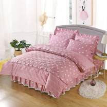 Bedding Set / four piece set / multi piece set cotton Quilting Plants and flowers 133x72 Fairy feather cotton 4 pieces 40 1.2m (4 feet) bed 1.5m (5 feet) bed 1.8m (6 feet) bed 1.8 * 2.2m (6 feet) 2.0 * 2.2m (6.6 feet) Fitted sheet bed skirt Qualified products Countryside 100% long-staple cotton twill