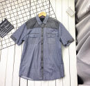 shirt Youth fashion Others L,XL,2XL,3XL,4XL grey Thin money Pointed collar (regular) Short sleeve easy Other leisure summer Military brigade of tooling Dot cotton Multiple pockets