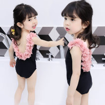 Bathing suit 90cm,100cm,110cm,120cm,130cm,140cm Other 100% Black lace, black lace Other / other female Children's one piece swimsuit Class A 12 months, 18 months, 2 years old, 3 years old, 4 years old, 5 years old, 6 years old, 7 years old, 8 years old