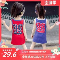 T-shirt Red, blue Other / other Height 70, 80, 80, 90, 90, 100, 100, 110, 110, 120, 120, 130# female summer Short sleeve Crew neck leisure time There are models in the real shooting nothing cotton Cartoon animation Cotton 90% polyester 10% Girls' Cotton Short Sleeve T-Shirt summer wear