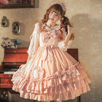 Dress Spring 2021 Pink S,M,L,XL Mid length dress singleton  Sleeveless Sweet other High waist Solid color Socket Princess Dress other camisole 18-24 years old Type A Eieyomi A-80 81% (inclusive) - 90% (inclusive) other cotton Lolita
