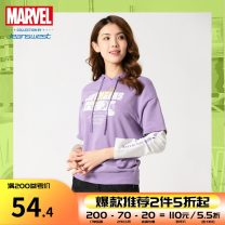 Sweater / sweater Spring 2020 Purple 8301 S,M,L,XL,XXL Long sleeves routine Socket singleton  routine Hood easy commute routine Cartoon animation 18-24 years old 51% (inclusive) - 70% (inclusive) JeansWest Simplicity cotton JW-01-271TB602 printing