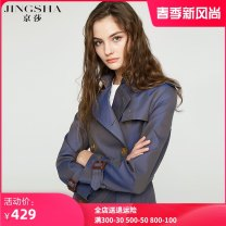 Windbreaker Spring 2020 S M L XL Green blue gray Khaki Long sleeves routine Medium length commute double-breasted tailored collar Solid color Self cultivation Jingsha -7001 25-29 years old Button 51% (inclusive) - 70% (inclusive) cotton Cotton 60% polyester 40% Pure e-commerce (online only)