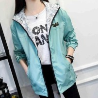 short coat Winter 2016 XS,S,M,L,XL Long sleeves routine routine singleton  Self cultivation commute shirt sleeve Hood zipper Solid color Other / other 71% (inclusive) - 80% (inclusive) tie-dyed polyester fiber