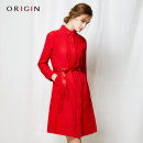 short coat Fall 2017 S M L XL Big red and black Long sleeves Medium length routine singleton  Self cultivation Original design routine stand collar Single breasted Solid color Origin / an Ruijing 96% and above Button C3D732LG34 cotton cotton Cotton 100% Pure e-commerce (online only)