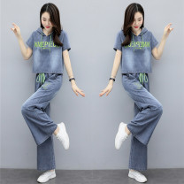 Fashion suit Summer 2021 M,L,XL,XXL,XXXL Green, white, coffee Other / other 96% and above Tencel