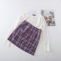 skirt Summer 2020 S,M,L Short skirt Versatile High waist skirt lattice 18-24 years old