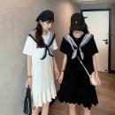 Women's large Summer 2021 White, black Large L, large XL, s, m, 2XL, 3XL, 4XL singleton  Sweet Short sleeve 31% (inclusive) - 50% (inclusive) Medium length college