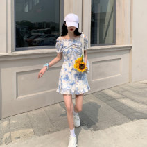 Women's large Summer 2021 Picture color Large L, large XL, s, m, 2XL, 3XL, 4XL singleton  commute Short sleeve Korean version Crew neck bishop sleeve Middle-skirt