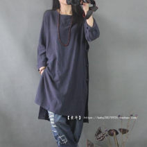 Dress Spring 2015 White, grayish blue One size seven sleeves, one size long sleeves
