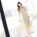 Dress Summer 2021 Yellow, blue S,M,L,XL Mid length dress singleton  Short sleeve commute square neck High waist Socket Irregular skirt puff sleeve Others 25-29 years old Type X Junlii / Jueling lady Embroidery, zipper, printing SXF-0312