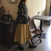 Fashion suit Autumn 2020 Average size Wool jacket, yellow umbrella skirt 18-25 years old Other / other