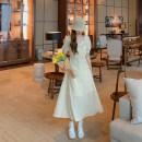 Dress Spring 2021 Long, short Average size Mid length dress singleton  Short sleeve commute V-neck Princess Dress 18-24 years old Type A Other / other Korean version 1772#