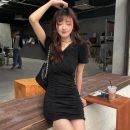 Dress Summer 2021 black Average size Short skirt Short sleeve Other / other
