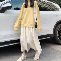 Sweater / sweater Spring 2020 Sweater 1230, skirt 1228 Average size Long sleeves routine Socket Upper and lower sleeve Crew neck easy commute 18-24 years old Other / other Korean version