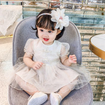 Dress Pink, apricot female Other / other 66cm,73cm,80cm,90cm,100cm Cotton 100% summer princess cotton Fluffy skirt Class A 3 months, 12 months, 6 months, 9 months, 18 months, 2 years old, 3 years old