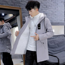 Jacket Other / other Youth fashion 165 / M [suitable for 85-105 kg], 170 / L [suitable for 105-120 kg], 175 / XL [suitable for 120-135 kg], 180 / 2XL [suitable for 135-150 kg], 185 / 3XL [suitable for 150-165 kg] Plush and thicken easy Other leisure winter Polyester 100% Long sleeves Wear out Hood