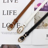 Belt / belt / chain Pu (artificial leather) Black (wp215), camel (wp215), white (wp215), red coffee (wp215), deep coffee (wp215), add shopping cart, collect baby, send punch female belt Versatile Single loop Children, youth, youth, middle age Pin buckle other soft surface 1.3cm alloy WP215