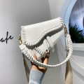 Bag The single shoulder bag PU Saddle bag Linlse / liangxipeng brand new Japan and South Korea Small leisure time soft Cover type no Solid color Single root One shoulder cross carry nothing youth Saddle shape weave Soft handle synthetic leather Certificate bag soft surface Inner patch pocket