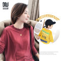 T-shirt Black yellow berry Duoduo 110 120 130 140 150 160 Mama s Mama m Mama L male summer Long sleeves Crew neck leisure time There are models in the real shooting nothing blending Solid color Polyester 100% seven thousand and twenty-nine Class B Summer 2020