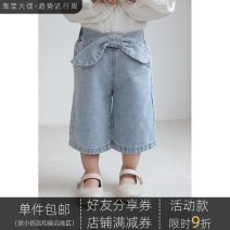 trousers Yoehaul / youyou female 80cm,90cm,100cm,110cm,120cm,130cm,140cm spring and autumn trousers leisure time There are models in the real shooting Jeans Leather belt middle-waisted Cotton blended fabric Don't open the crotch Other 100% other Chinese Mainland Zhejiang Province Hangzhou