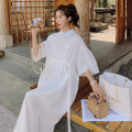 Dress Other / other Short sleeve Korean version have more cash than can be accounted for summer other Solid color polyester Chinese Mainland Zhejiang Province Hangzhou white S,M,L,XL