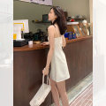 Dress Summer 2021 Off white, black, off white, black S,M,L Short skirt singleton  commute Solid color A-line skirt camisole 25-29 years old MASHYUM Simplicity A21055 71% (inclusive) - 80% (inclusive) polyester fiber
